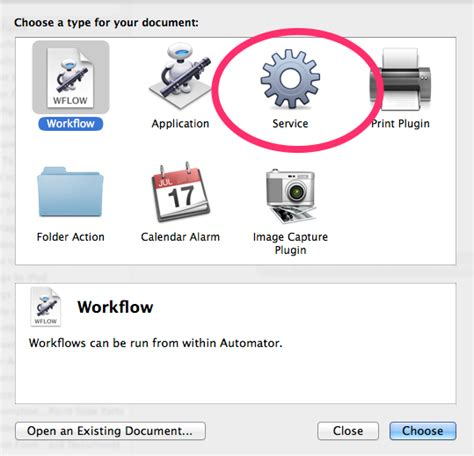 How to create a contextual menu item with Automator that