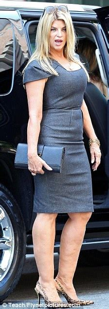 Kirstie Alley slips her slim figure into a skin-tight