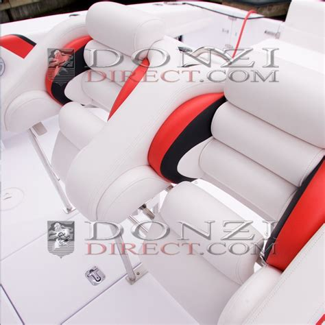 Donzi ZF Dual Drop-Down Center Console Helm Seat